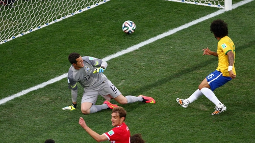 Marcelo of Brazil's own goal in the opening match of the World Cup was the most-tweeted moment so far