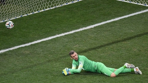 ...Which scoots past the Croatian keeper to cement Brazil's victory at 3-1