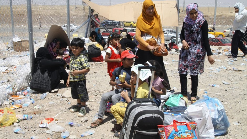 Hundreds of thousands of people have fled the violence in Iraq.