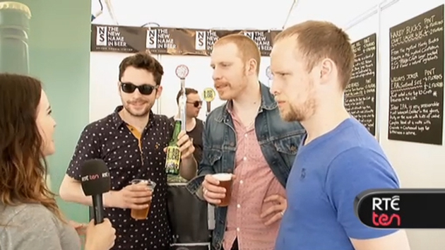 Intrepid RTÉ Ten reporter Sarah McIntyre quizzes The Hardy Bucks about their new beer