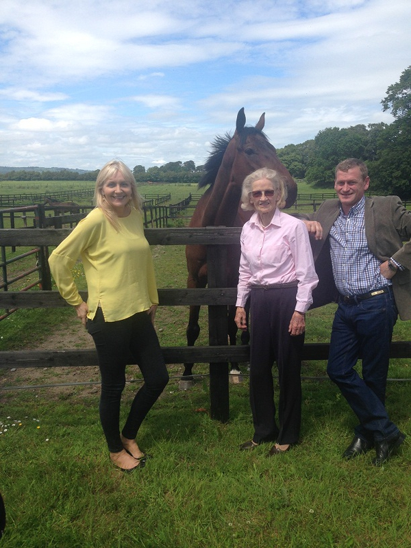 Miriam at Gowran Park with Maureen and Tony Mullins