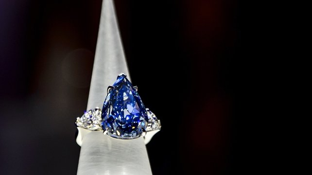 Only three or four blue diamonds over 100 carats have ever been recovered