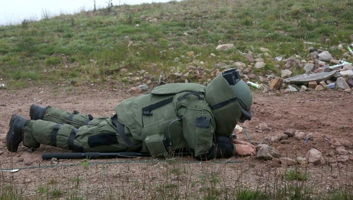 A bomb disposal team made safe a mortar round dating from War of Independence Credit: Irish Defence Forces