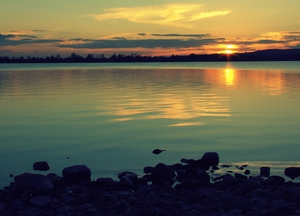 Mike Lawlor sent in this photo of the sun setting over Lough Ramor in Co Cavan
