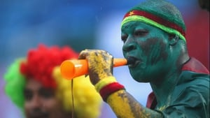 The Cameroonians came out in force as well