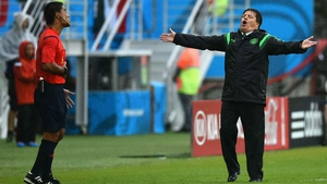 His coach, Miguel Herrera, was none too pleased either