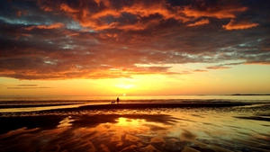 John Keating took this photo of the sun setting at Strandhill in Sligo.