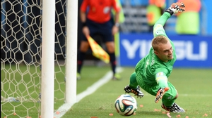 Netherlands goalkeeper Jasper Cillessen dove the right way but failed to make the save