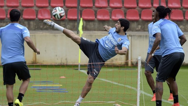Luis Suarez trained on Thursday but will not play on Saturday