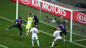A heavy foul on Casillas by Van Persie - which the referees somehow missed - helped make the goal possible, bringing the score to 3-1 Netherlands