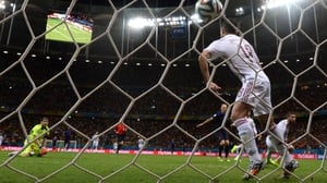 After beating Casillas who came out to the edge of the box, Robben scores his second of the night, rounding out the Dutch victory at 5-1