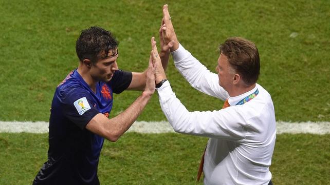Robin Van Persie and Louis van Gaal