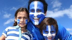 The young and old gathered to support 2004 European Champions Greece