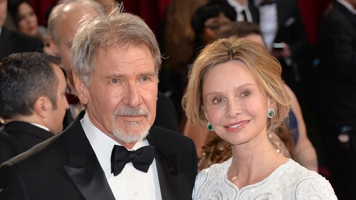 Calista Flockhart has flown to London to be at her husband Harrison Ford's bedside