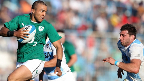 Simon Zebo scored a vital try for Ireland after the interval