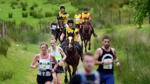 Man v Horse Marathon sees runners compete against riders on horse-back over 24 miles of challenging terrain