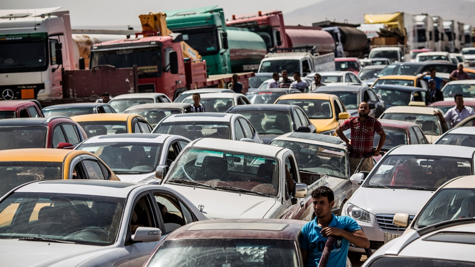 Total gridlock at border in Iraq
