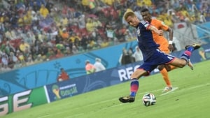 Keisuke Honda put Japan in front early on