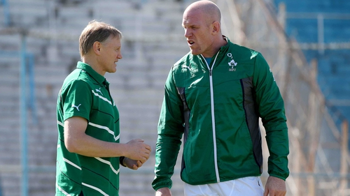 Head coach Joe Schmidt with Ireland captain Paul O'Connell