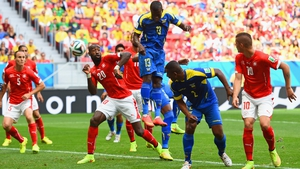 Enner Valencia headed Ecuador into the lead in the 22nd minute