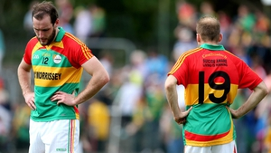 Utter dejection on the face of Carlow's David Bambrick after his county's loss to Meath in the Leinster SFC...
