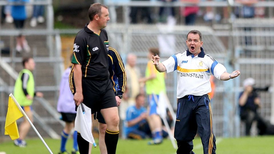 Davy Fitz reacts during the Clare versus Cork game