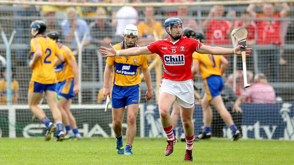 'Anthony who?': Patrick Horgan celebrates scoring a penalty against Clare, the first under the new clarification of the so-called 'Nash rule'