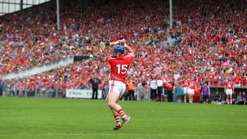 Cork's Patrick Horgan scores from the penalty spot against Clare