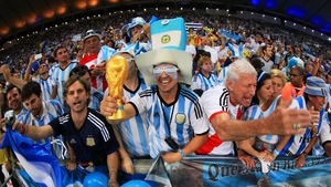 And the huge number of Argentina fans in the Maracana went wild