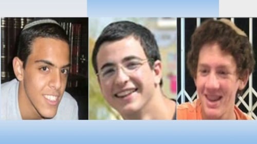 Israel blames Hamas for the disappearance of the three teenagers in the West Bank