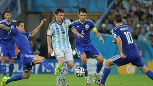 Star man Lionel Messi was tightly marked during the opening stages