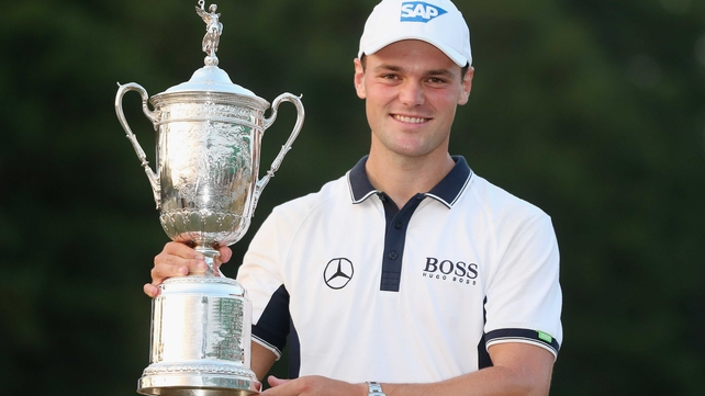 Martin Kaymer with the US Open trophy