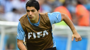 Luis Suarez missed Uruguay's opening defeat to Costa Rica through injury