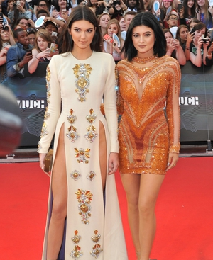 Kendall Jenner and her sister Kylie Jenner at the MuchMusic Video Awards