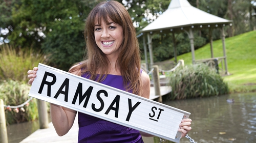 Sheree Murphy filming with Neighbours