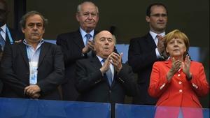 FIFA President Sepp Blatter and German Chancellor Angela Merkel were noticeably pleased