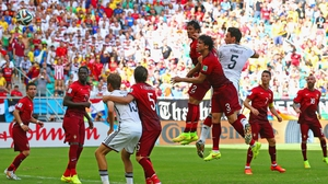 Germany defender Mats Hummels rocketed a header into the top of the net at 31' to increase the German lead to 2-0
