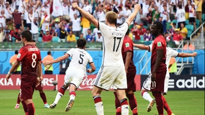 Hummels celebrates the goal, his fourth in 31 appearances for Germany