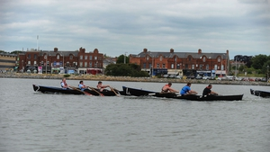 Teams competed in the sea by East Wall Water Sports Centre (Pic: Lar Boland)