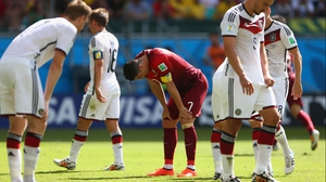 Ronaldo looked weary after a second goal by Müller put Germany up 3-0 just before the half