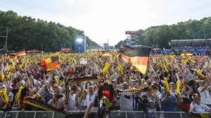 Fans in Berlin were delighted with the result