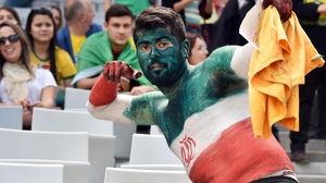 Then on to Curitiba and the Arena da Baixada, where fans of Iran were clearly ready for the action