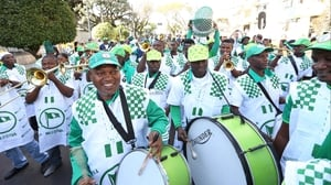 Nigeria supporters made their presence known as well, leading the charge into the stadium with a full marching band