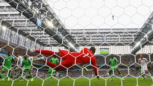 Nigeria goalkeeper Vincent Enyeama made some solid saves throughout the match, which turned into a defensive stalemate by mid-way through the first half