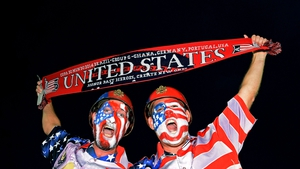 For the final match of Day 5, Ghana took on the USA in Natal at Estádio das Dunas. These proud Americans were two of many who travelled to their country's opening World Cup match