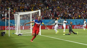 Lightning struck quickly for the US, as forward Clint Dempsey found the goal at the 32 second mark, scoring the fifth fastest goal in World Cup history
