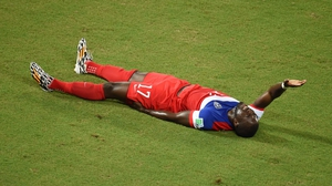 Their luck didn't last the match, though, when forward Jozy Altidore went down with a hamstring injury midway through the first half