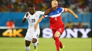Ghana midfielder Kwadwo Asamoah and USA midfielder Michael Bradley continued the trend...