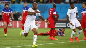 Ayew's goal at 82' levelled the score at 1-1