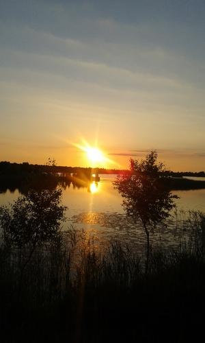 Sunset at Lough Boora, Co Offaly (Pic: Mary Roche)
